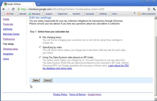 Google Checkout Taxes - 4