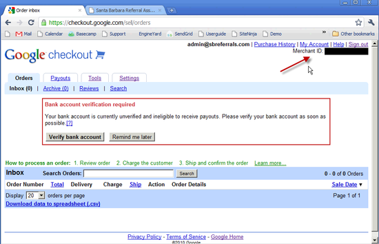 Google Merchant ID - 3
