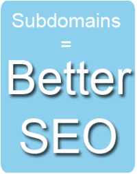 Subdomains = Better SEO