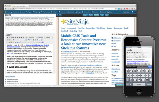 Mobile CMS Tools and Responsive Content Previews Cover Image