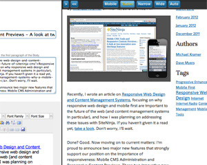Responsive Content Previews