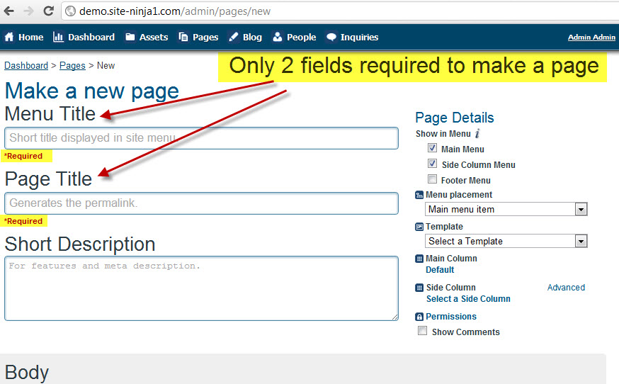 03 - Enter Required Fields