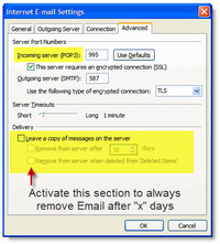 How to Delete Gmail Messages - Outlook POP Email Settings