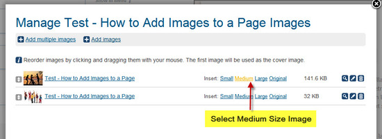 #8 Select Size of Image to place on page