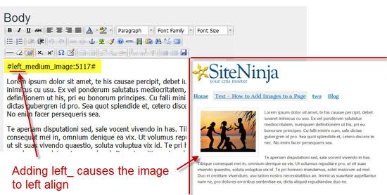 Left Align Images