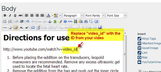 "Replace the ""video_id"" with your video ID"