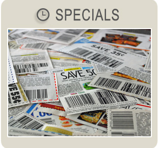 Special Savings, Discounts and Coupons