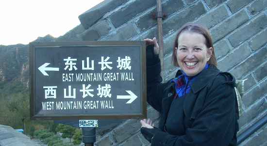 Laura at The Great Wall