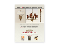 McLelland Lighting Gallery Ad