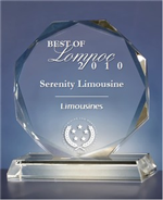 Serenity Limousine Receives 2010 Best of Lompoc Award