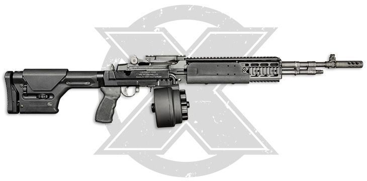 X-14 in M14 EBR Side View