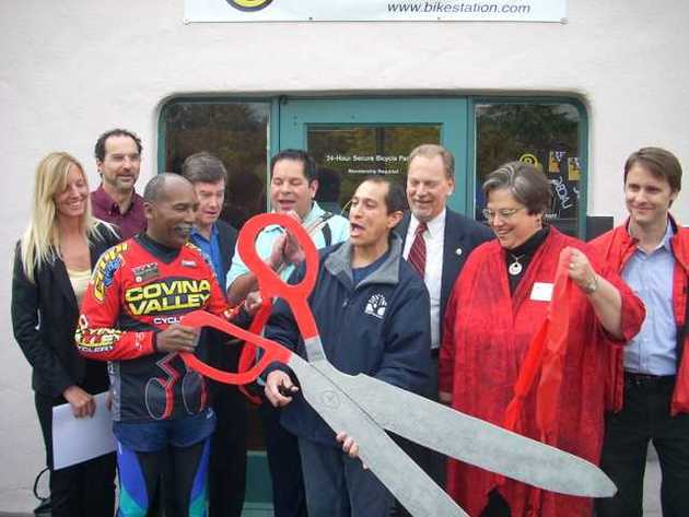 Bikestation Claremont Covina Grand Opening - Ribbon Cutting