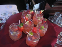 Signature Cocktail -Homemade Strawberry Lemonade and Makers