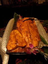 Wild Salmon on Cedar Plank