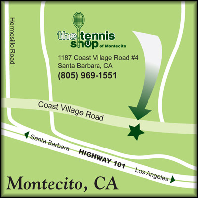map to the tennis shop of montecito