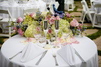 Table Set up and Centerpieces