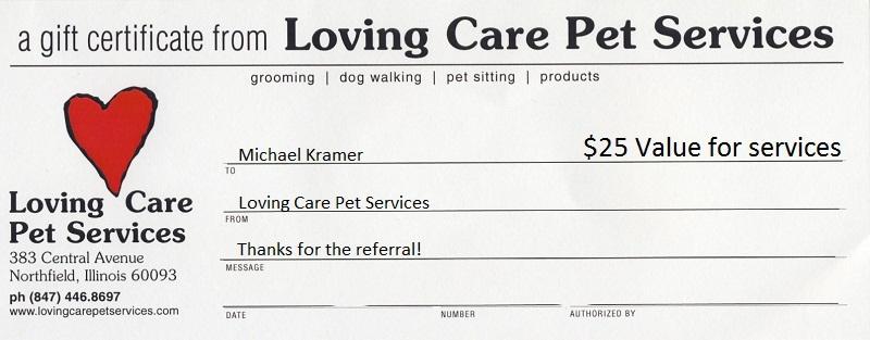 Pet Service Certificate