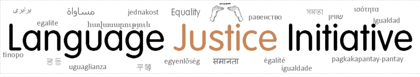 Language Justice Initiative Banner