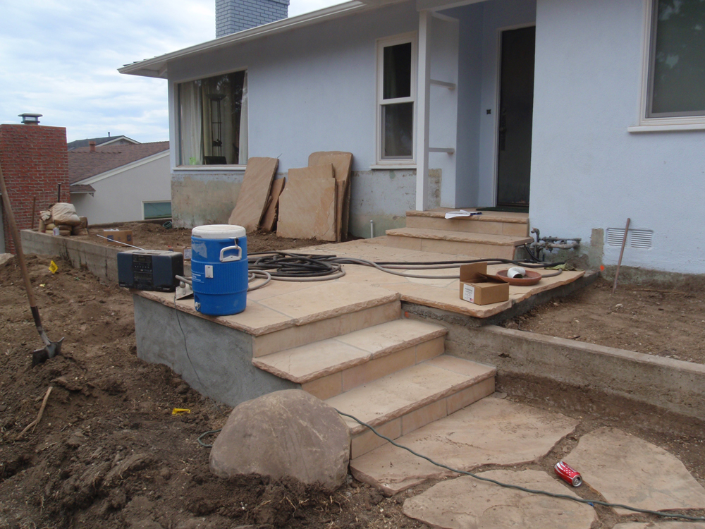 Building Flagstone Steps : Wilson environmental contracting