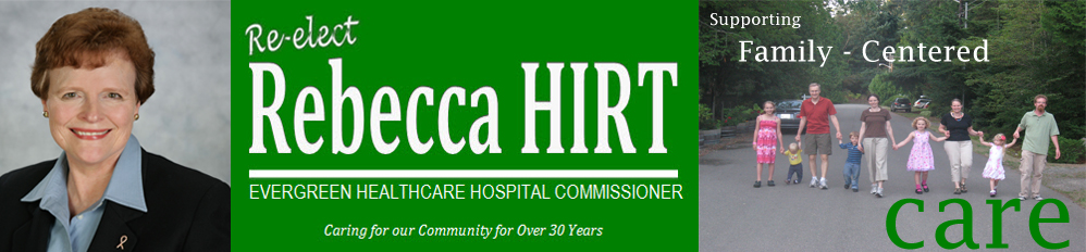 Rebecca Hirt for Hospital Commissioner for EvergreenHealth
