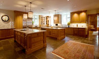 """The """"L"""" Shape with Double Island Kitchen"""