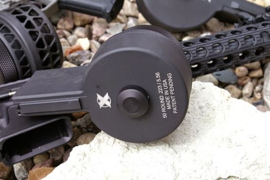 X Products High Capacity AR15 AR10 Drum Magazine Review-7