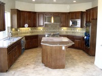 """The """"J"""" Shape with Island Kitchen"""