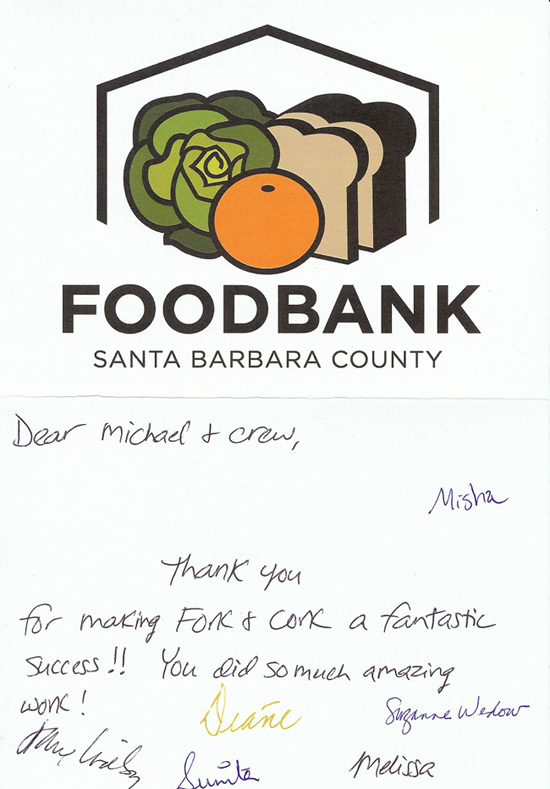 Foodbank of Santa Barbara County - Testimonial
