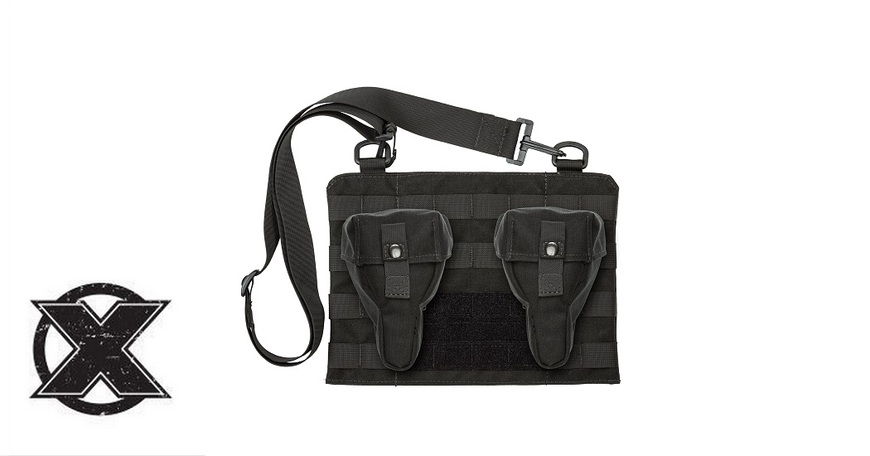 Dual Drum Sling Pouch with Pouches