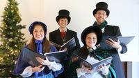 Christmas Carolers at the Calle Real Shopping Center