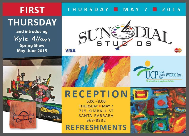 Santa Barbara 1st Thursdays- Sundial Studio and Gallery May Showcase