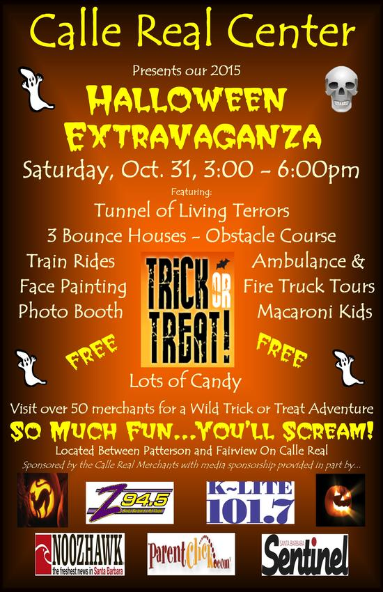 Halloween Extravaganza, Calle Real Shopping Center, Saturday, Oct. 31, 3-6:00pm