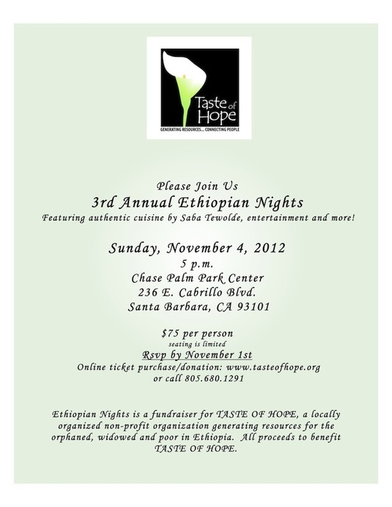 Reserve seats for Ethiopian Nights or Make a Donation