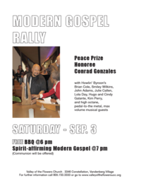 Conrad Featured at Modern Gospel Rally