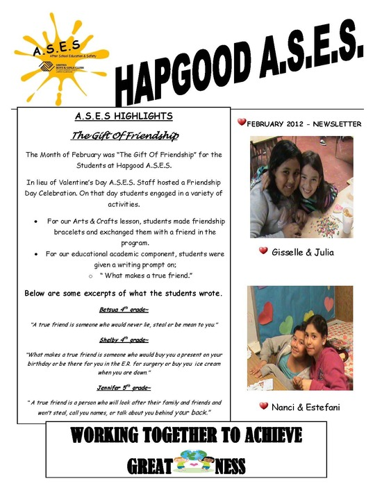Hapgood Feb 2012 Newsletter