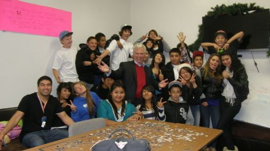 So. Cal Gas - Tim Mahoney with Santa Barbara West Kids