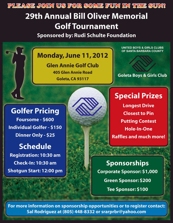 29th Annual Bill Oliver Memorial Golf Tournament