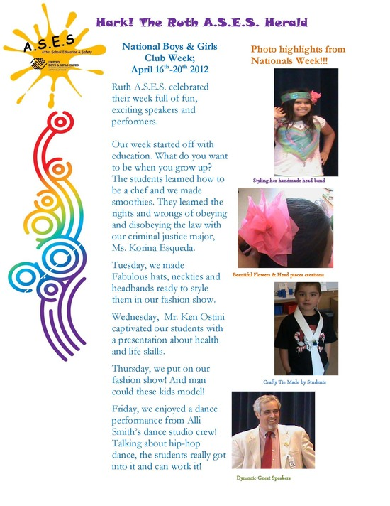 Clarence Ruth Newsletter April 2012