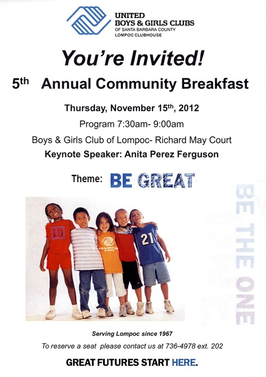5th Annual Community Breakfast - Lompoc