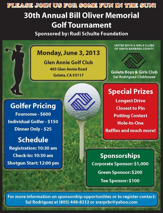 30th Annual Bill Oliver Memorial Golf Tournament