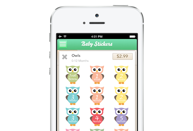Baby stickers store