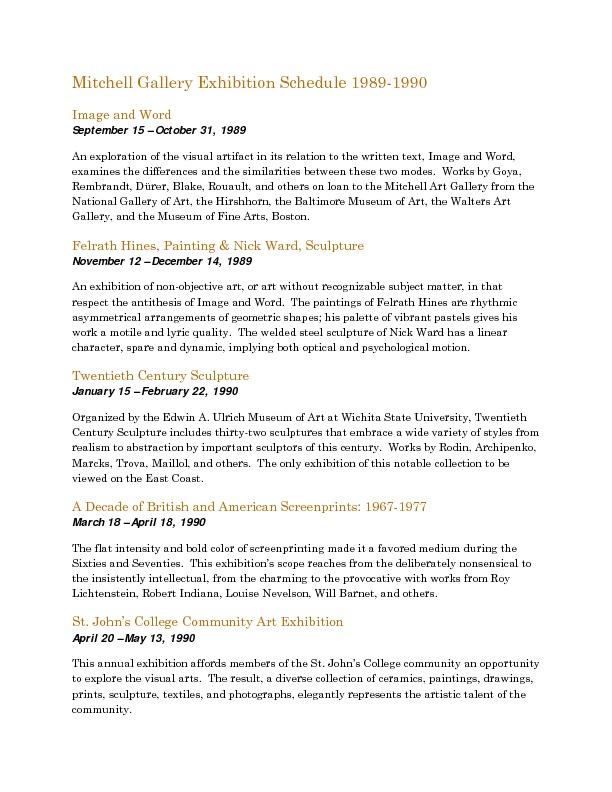 Mitchell Gallery Exhibition Schedule 1989-1990.pdf