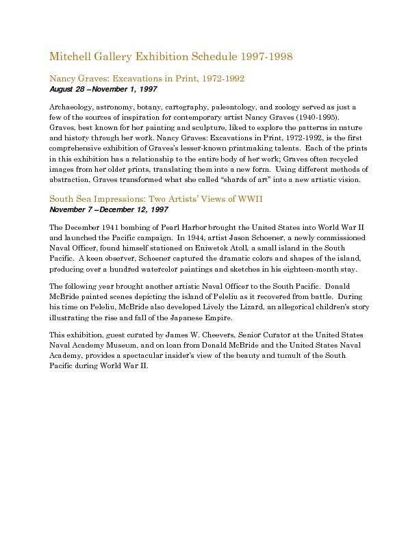 Mitchell Gallery Exhibition Schedule 1997-1998.pdf