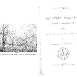 Catalogue of St. John's College, Annapolis, Maryland, for the Academic Year, 1892--1893, and Prospectus 1893--1894.