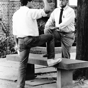 David E. Starr in Conversation with Christopher T. Lynch Outside on the Campus Quadrangle, St. John's College, Annapolis, Maryland