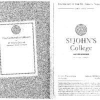 Statement of the St. John's Program 2001-2002