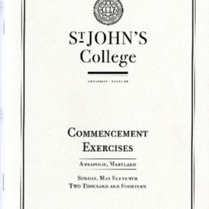 Commencement Program,  2014