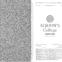 Statement of the St. John's Program 2009-2010