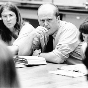 David E. Starr and Students Seated at Seminar Table, St. John's College, Annapolis, Maryland