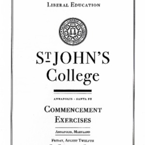 Graduate Institute Commencement Program,  2011